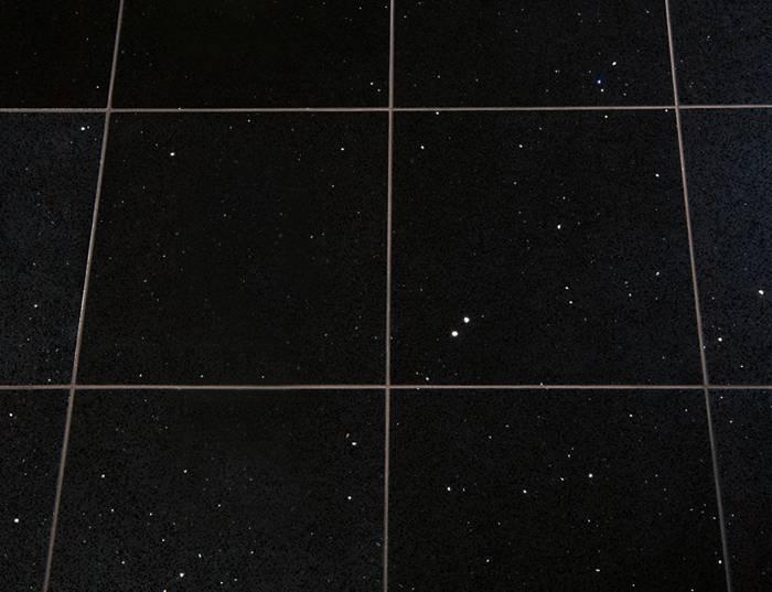 Sparkly Black Quartz Tiles Glitter